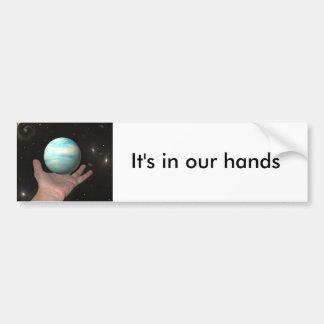 Es ist in unseren Händen Autoaufkleber