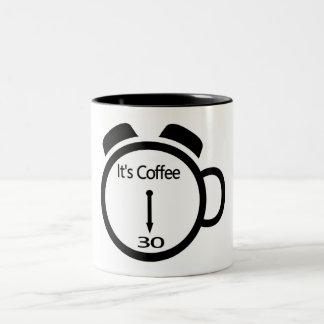 Es ist Kaffee 30 Zweifarbige Tasse