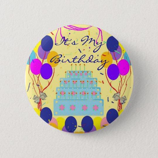 Es ist mein Geburtstags-Party-heftiger Schlag Runder Button 5,1 Cm