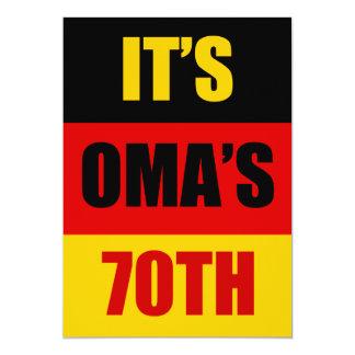 Es ist Omas 70. Geburtstags-deutsche Flagge Karte