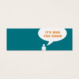 es ist, wem Sie Spracheblasenempfehlung kennen Mini-Visitenkarten