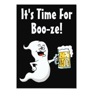 Es ist Zeit für Schnaps-Erwachsen-Halloween-Party Karte