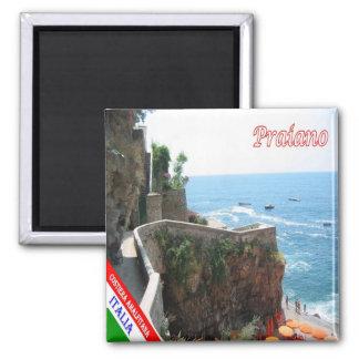 ES - Italien- - Amalfi-Küste - Praiano Quadratischer Magnet