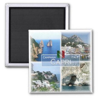 ES - Italien # Kampanien - Capri - Quadratischer Magnet