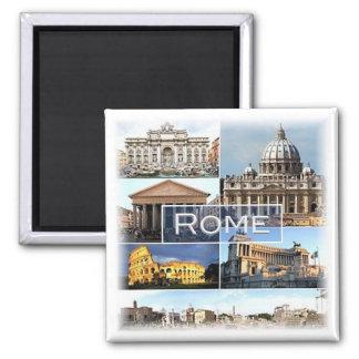 ES * Italien - Rom - Rom Italien Quadratischer Magnet