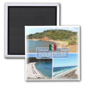 ES Italien # Toskana - Elba - Quadratischer Magnet