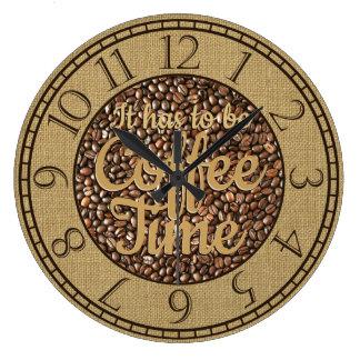 Es muss die rustikale Kaffee-Zeit sein Große Wanduhr