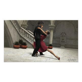 Es nimmt zwei zum Tango-Foto-Druck Fotodruck