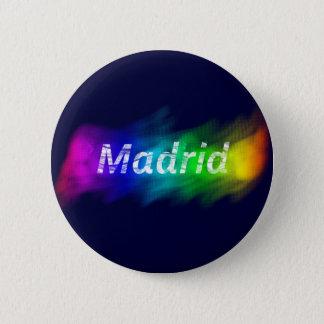 Es plattiert Madrid Schwul ,(Button Madrid Schwul) Runder Button 5,1 Cm