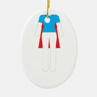 Es war nie ein Kleid - Wunder-Supermädchen-Frau Keramik Ornament