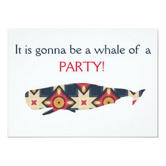 Es wird ein Wal eines Party sein Karte
