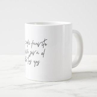 Es zerteilt für Kaffee Jumbo-Tasse