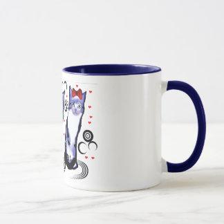 es zerteilt mit Katzen Tasse