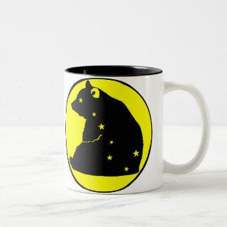 es zerteilt wagt den gelben Major Zweifarbige Tasse
