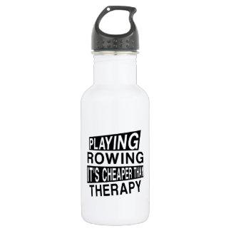 Es ZU RUDERN ist billiger als Therapie Trinkflasche