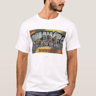 Escanaba, Michigan - große Buchstabe-Szenen T-Shirt