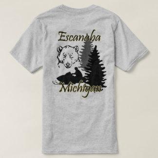 Escanaba Michigan Snowmobile-Bär SS grau T-Shirt