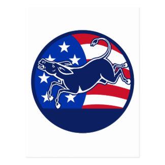Esel-Demokrat-Flagge Postkarte