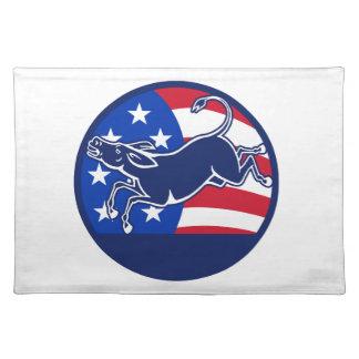 Esel-Demokrat-Flagge Tisch Set