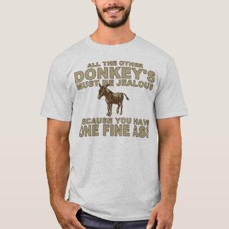Esel heben Linie auf T-Shirt