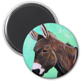 Esel-Malerei Runder Magnet 5,1 Cm
