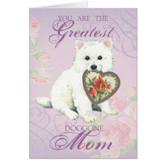 Eskie Herz-Mamma Grußkarte