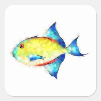 Esperimentoza - herrlicher Fisch Quadratischer Aufkleber