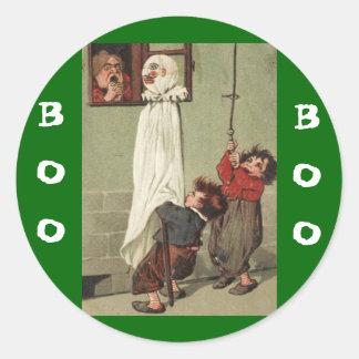 Espiègles vintages de Halloween Sticker Rond