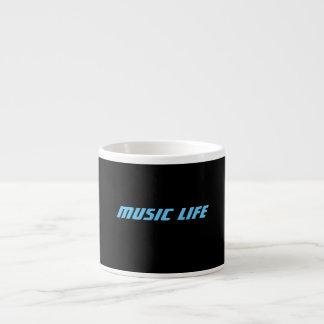 Espresso-Kaffee-Tassen - Musik-Leben-Logo Espressotasse