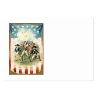 Esprit de drapeau des USA de garçon de batteur de  Modèle De Carte De Visite