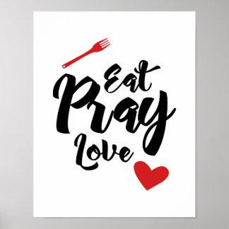 Essen Sie beten Liebe - Küche - Plakat