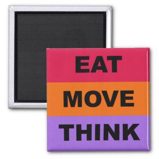 Essen Sie Bewegung denken Magneten Quadratischer Magnet