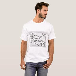 Essen Sie den nackten T-Shirt