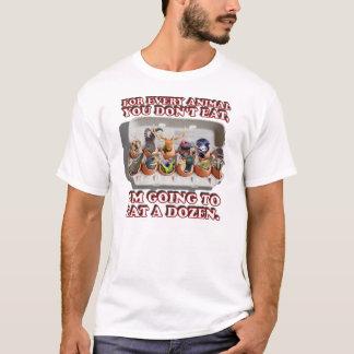 """""""Essen Sie der Dutzend Tier-"""" weiße T - Shirt"""