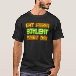 Essen Sie frisches Soylent jeden Tagesschwarz-T - T-Shirt