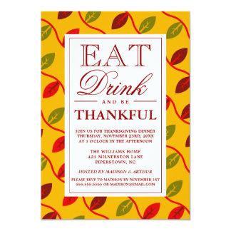 Essen Sie Getränk u. seien Sie dankbar Karte