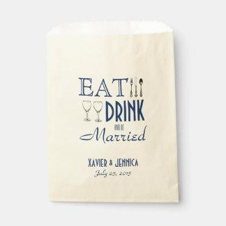 Essen Sie Getränk und seien Sie verheiratetes Geschenktütchen
