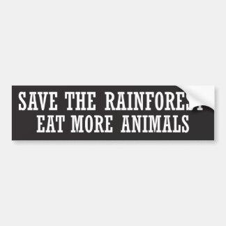 Essen Sie mehr Tiere Autoaufkleber