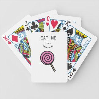 Essen Sie mich Lolipop Bicycle Spielkarten