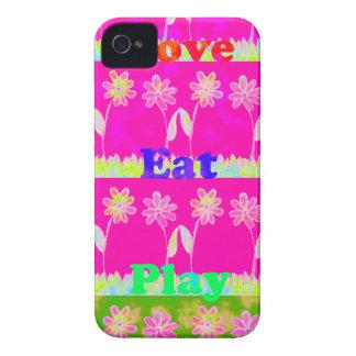 Essen Sie Save the Date Liebe und PLay.png iPhone 4 Case-Mate Hüllen