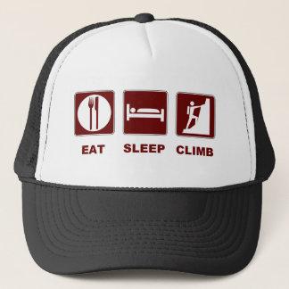 Essen Sie Schlaf-Aufstiegs-T - Shirt- und Truckerkappe