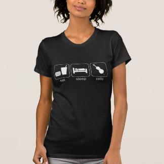 essen Sie Schlaf-Cello - Dunkelheit (Frauen) T-shirts
