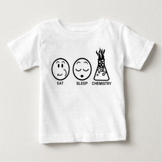 Essen Sie Schlaf-Chemie Baby T-shirt
