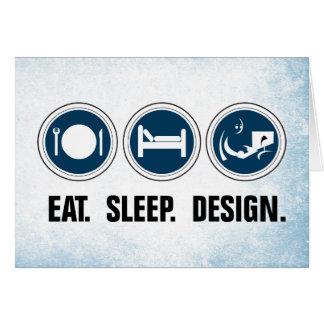 Essen Sie Schlaf-Entwurf Karte