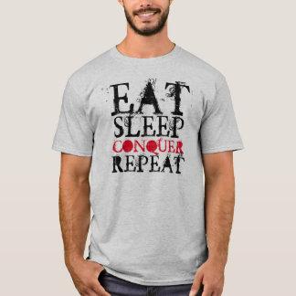 """""""Essen Sie Schlaf erobern Wiederholungs"""" T - Shirt"""