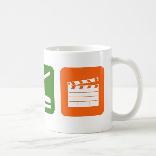 Essen Sie Schlaf-Film-Produktion Tasse