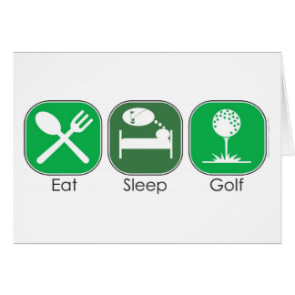 Essen Sie Schlaf-Golf Karte