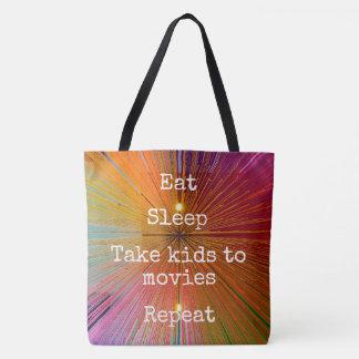 """""""Essen Sie. Schlaf. Kinder zu den Filmen. Tasche"""