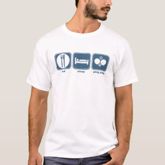 essen Sie Schlaf-Klingeln pong T-Shirt