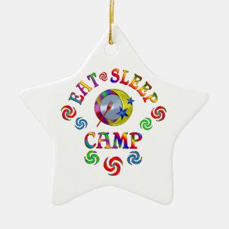 Essen Sie Schlaf-Lager Keramik Ornament